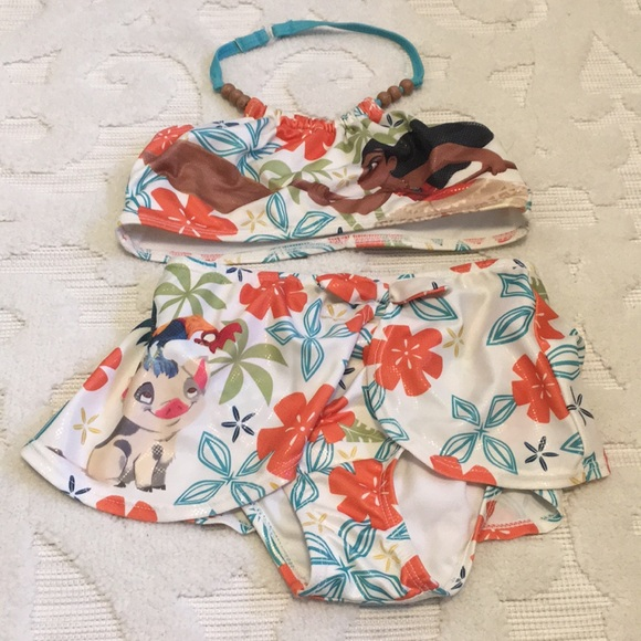 Disney Other   Girls Disney Moana Swimming Suit Two Piece 5 / 6